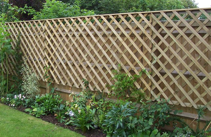 Trellis Fencing Can it be installed against the existing