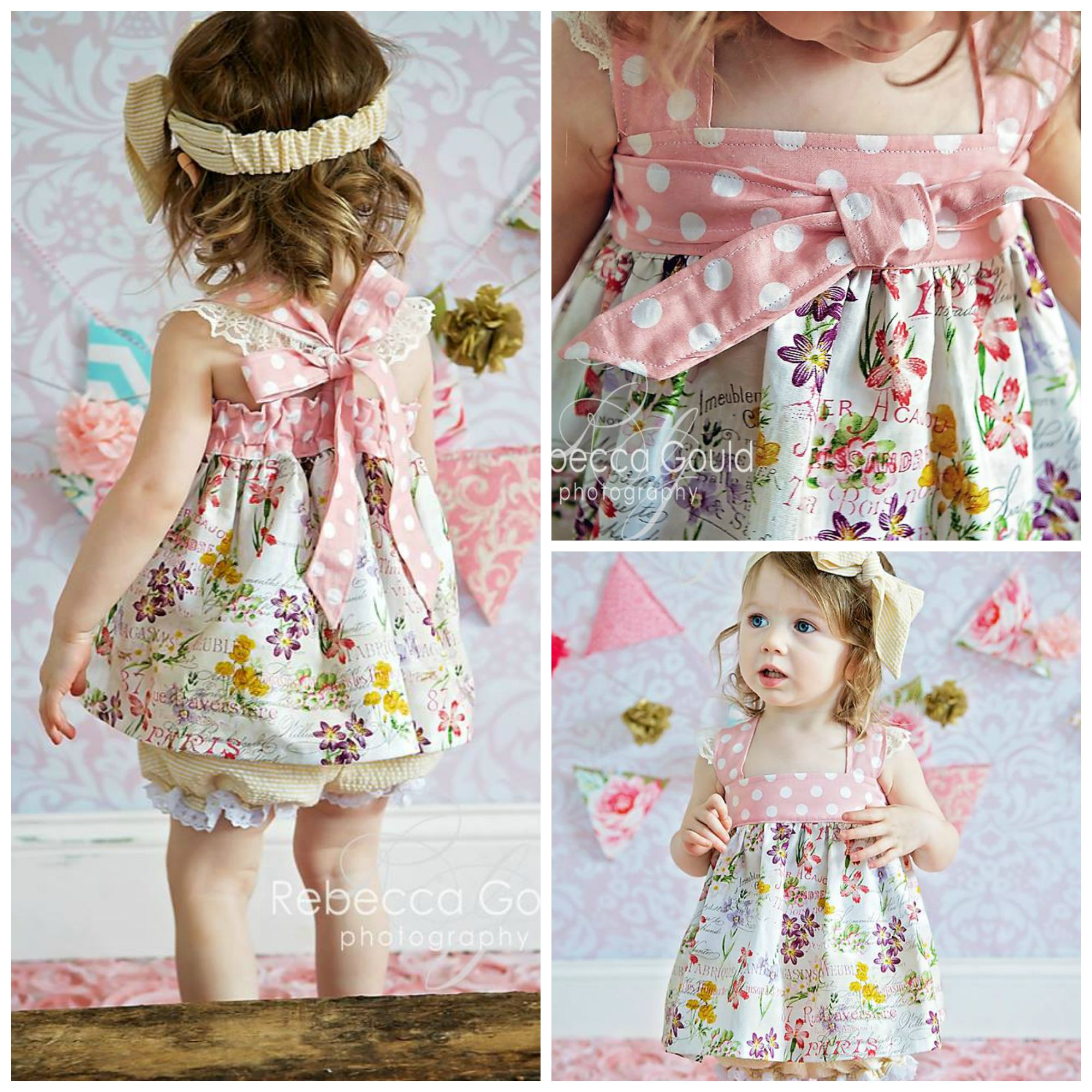 baby molly bubble romper dress top and bloomer little one