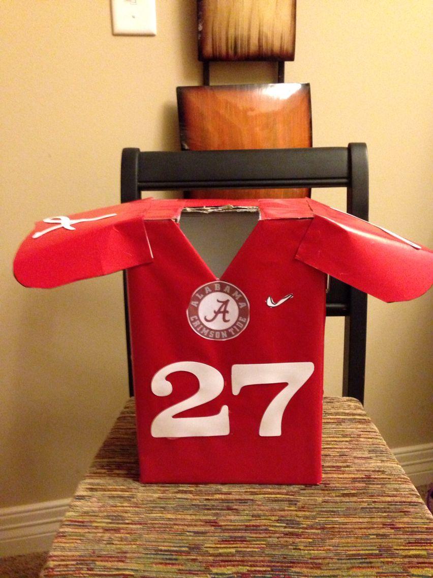 Alabama football jersey valentine box boys valentines