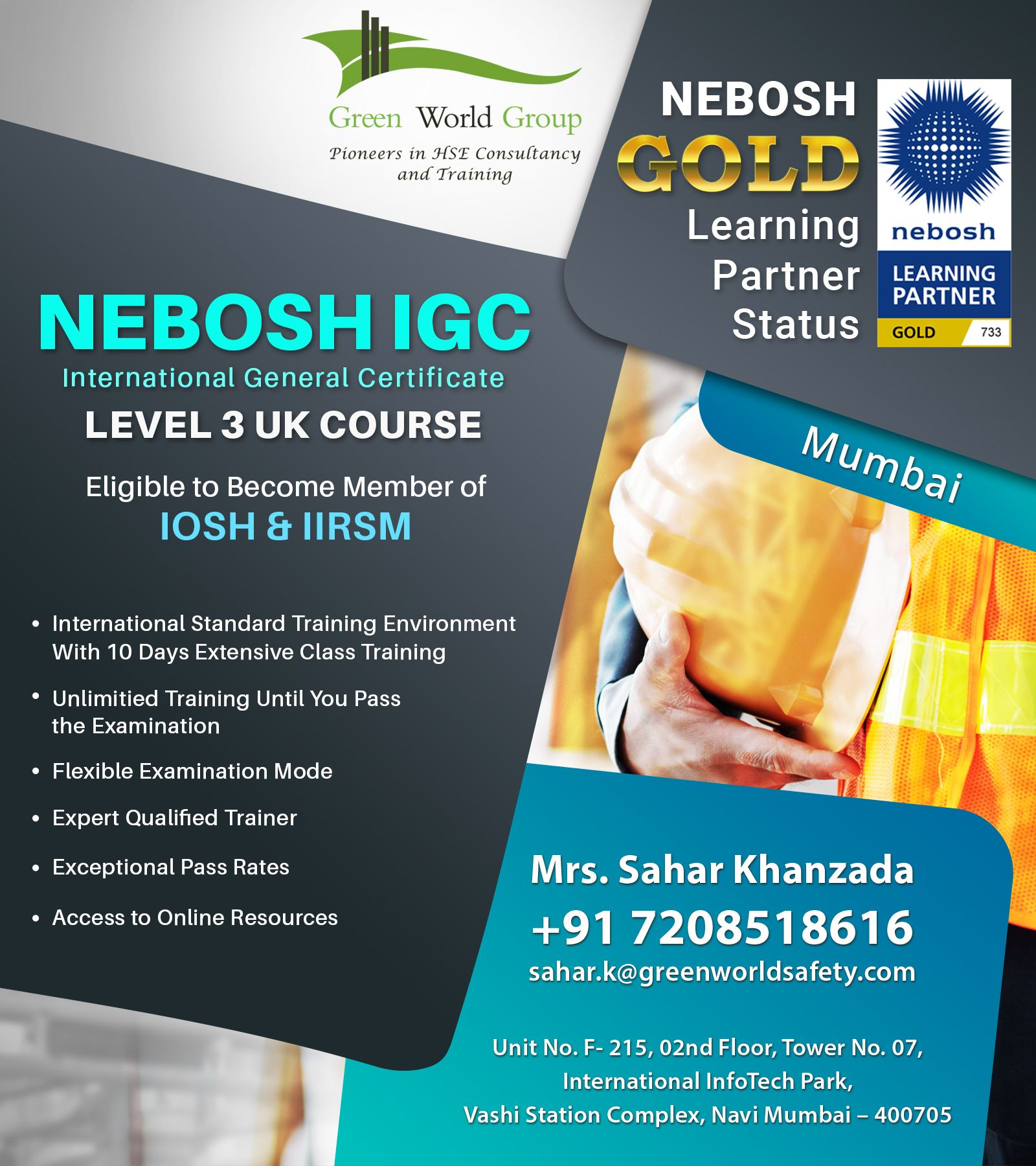 Nebosh IGC Safety Training Institute in Mumbai in 2020