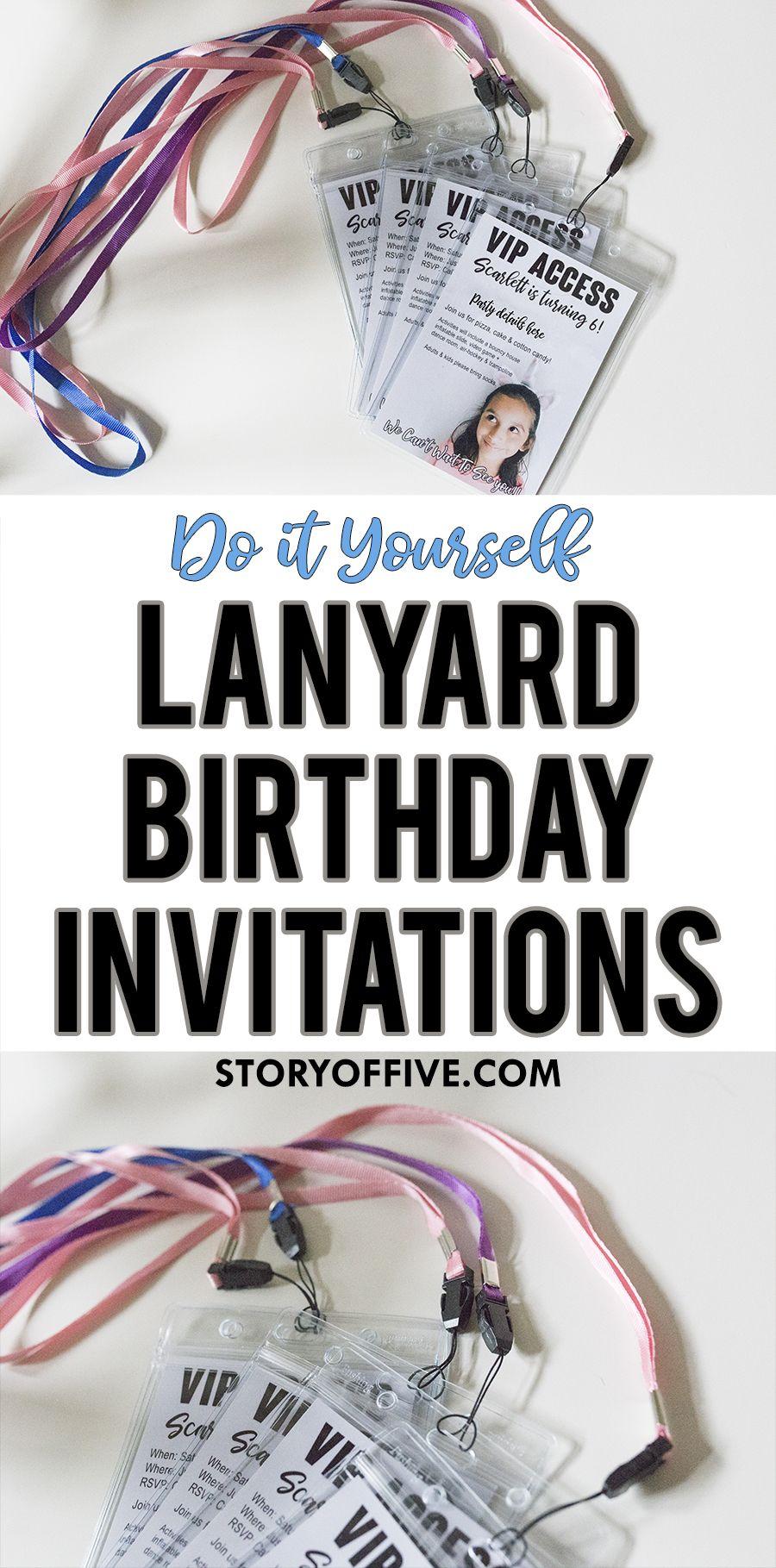 DIY Birthday Party Lanyard Invitations | By Melanie @ The Story of ...