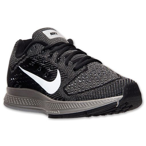 Women's Nike Zoom Structure 18 Flash Running Shoes | Finish Line | Cool Grey /Black