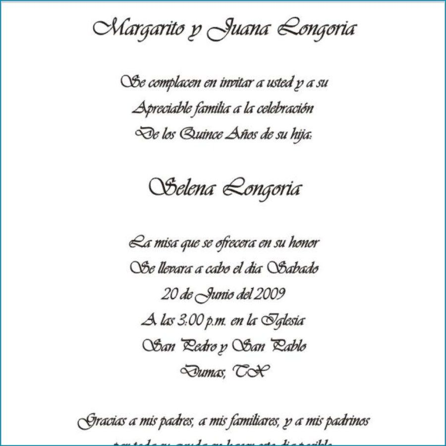 Wedding Invitations Spanish: 30+ Amazing Picture Of Wedding Invitation Wording In