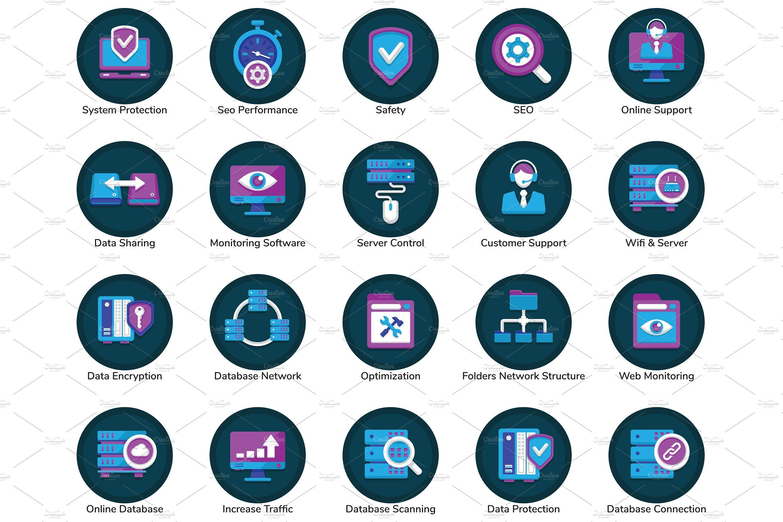 100 Web Hosting Flat Icons icon, flaticon, icons, icon