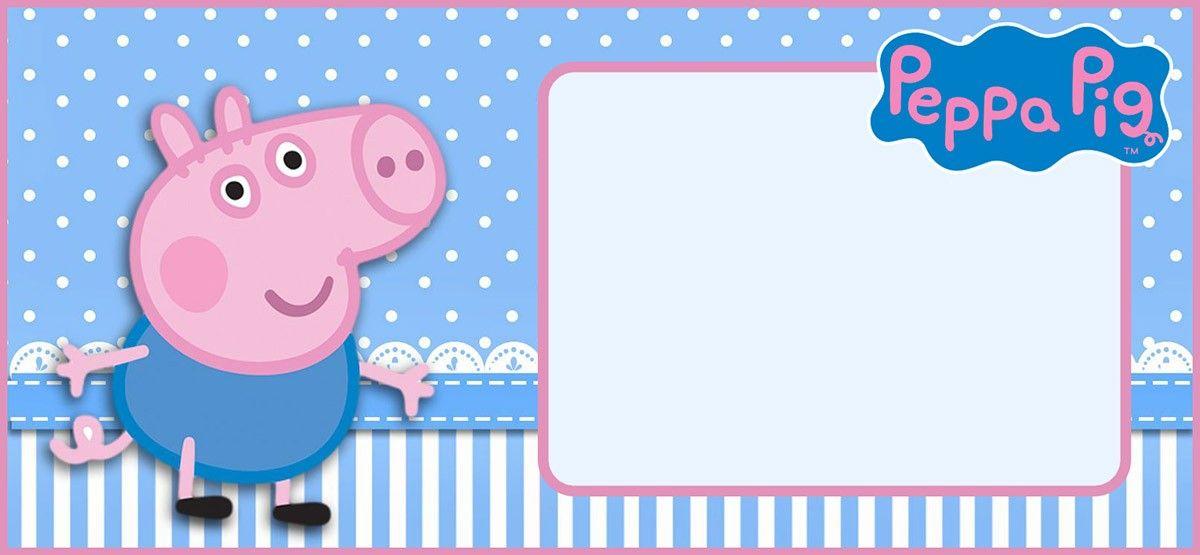 Editable Peppa Pig Invitation Template