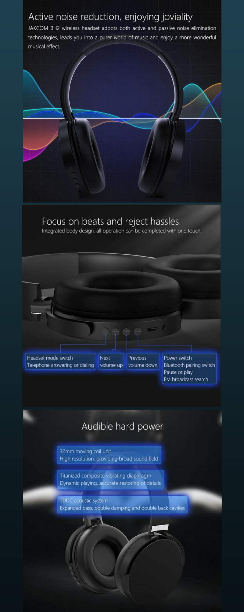 b6af0867bba New Smart Bluetooth Headphone 2018 Trending | Headphones | Wireless ...