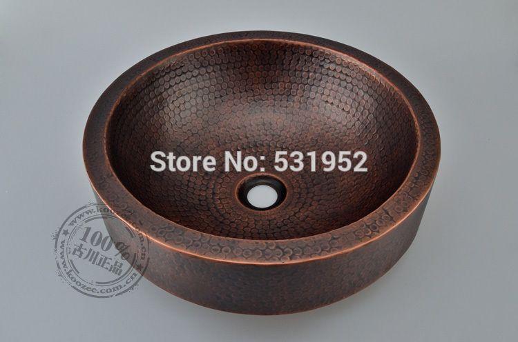 Kostenloser Versand Mode Waschbecken Bronze Becken Handgemachte