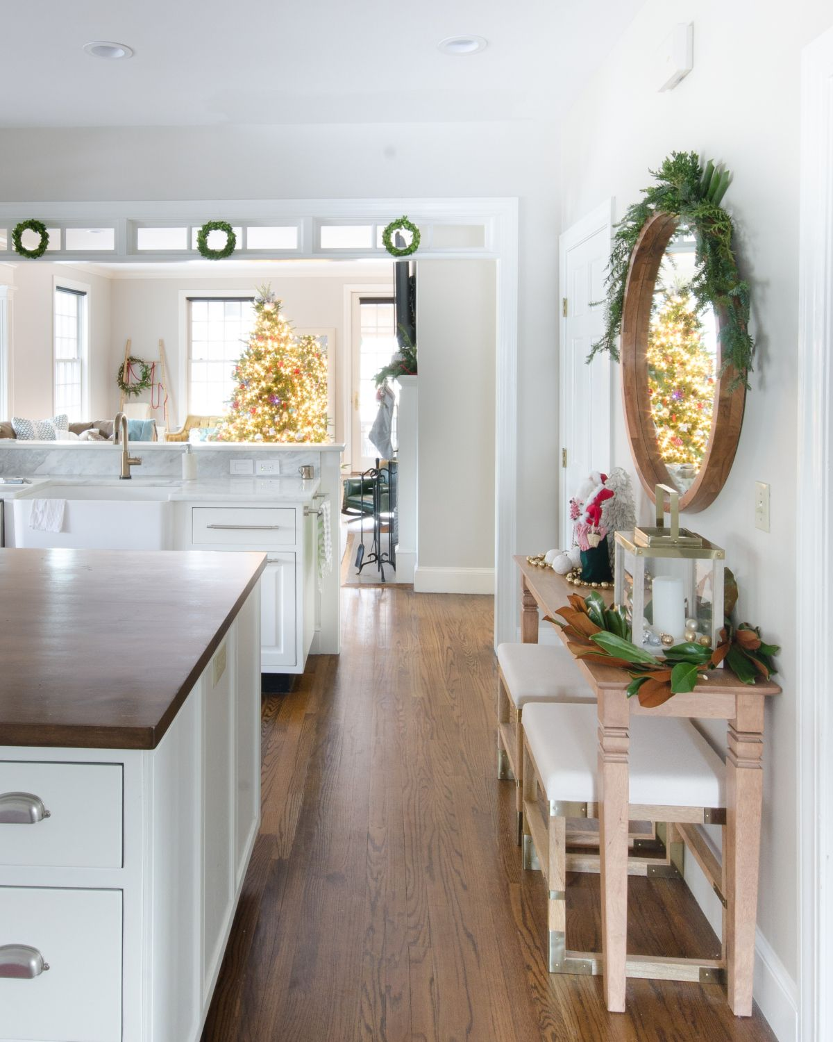Christmas Tour 2016 Mudroom and Family Room The