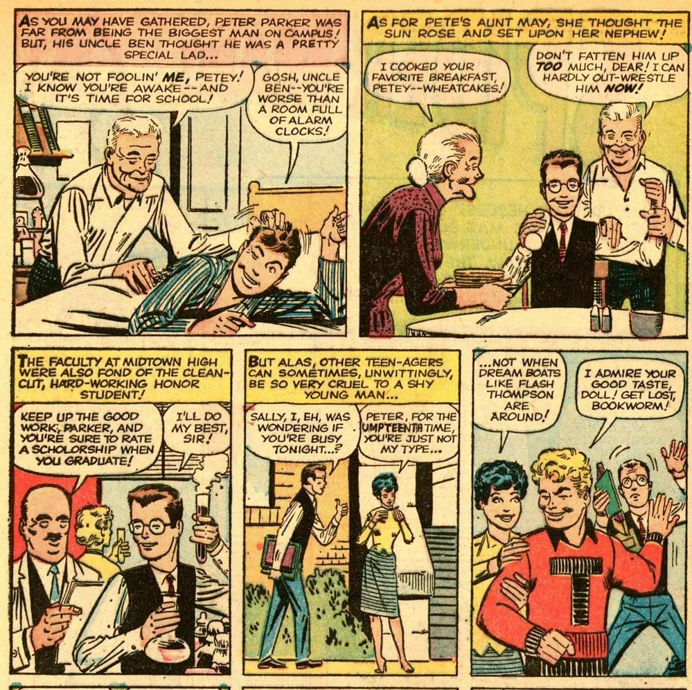 The First Peter Parker By Stan Lee And Illustrator Steve Ditko From