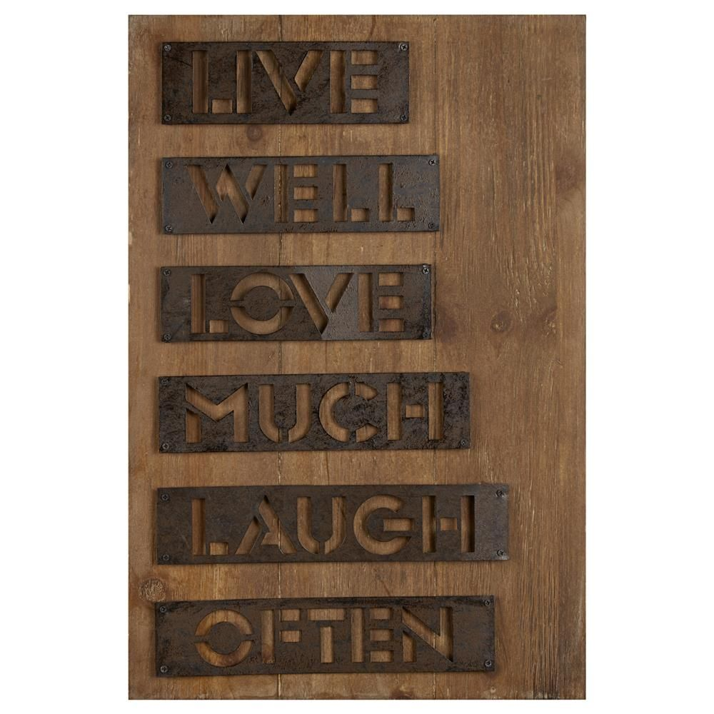 Wood Wall Art With Metal Accents/Metal Wall Decor/Wall Decor|Bouclair.