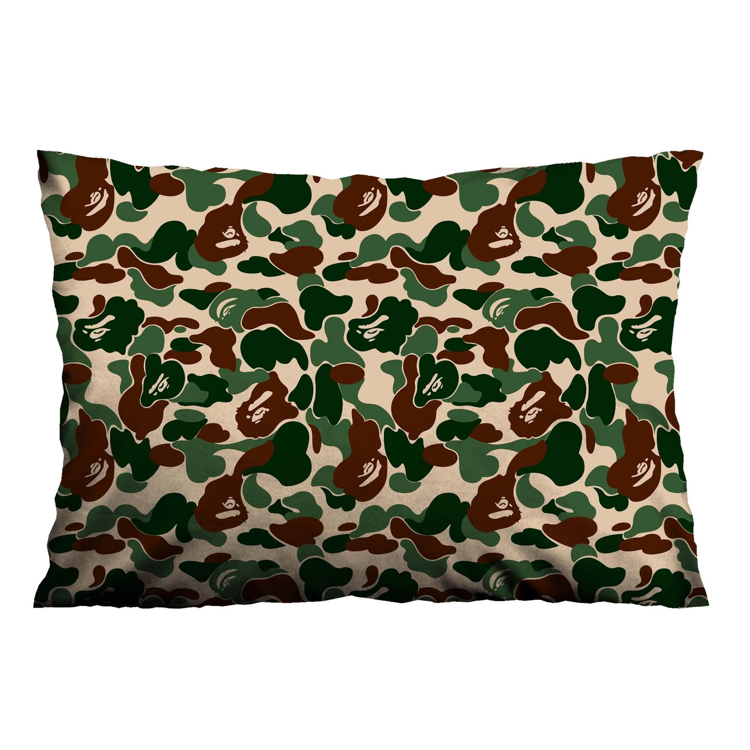 Bape Bathing Ape Camo Pillow Case Cover Casefine Bape Bathing Ape Camo Pillow Case Cover Vendor Casefine Type Green Pillow Cases Pillows Green Pillows