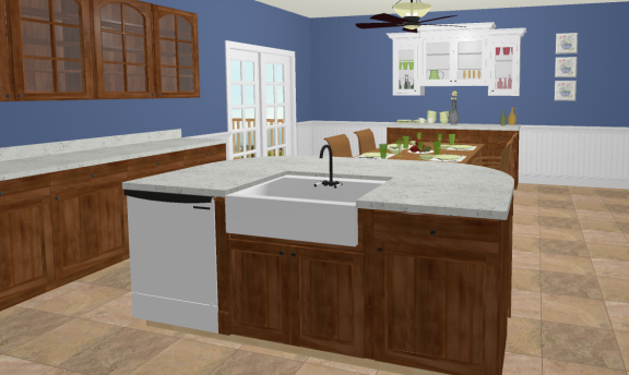 Placing an Apron Sink into a Cabinet