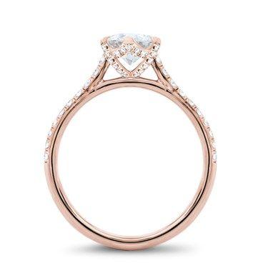 6 Prong Diamond Band And Basket Engagement Setting Rings