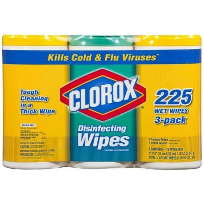Clorox 225Count Fresh Scent Disinfecting Wet Wipes (3