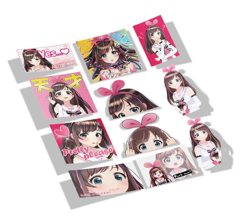 Kizuna a i 11pcs bulk meme anime vinyl stickers 001