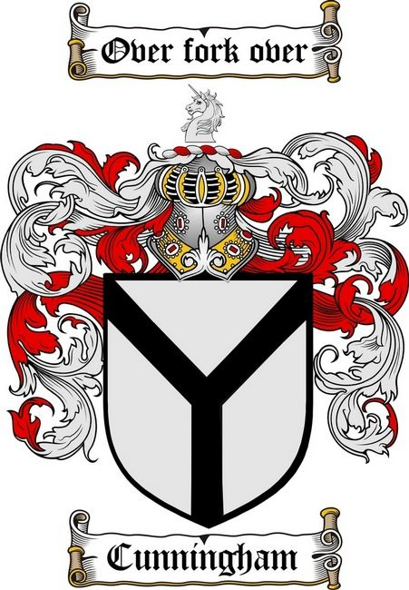 CUNNINGHAM FAMILY CREST - CUNNINGHAM COAT OF ARMS gifts at