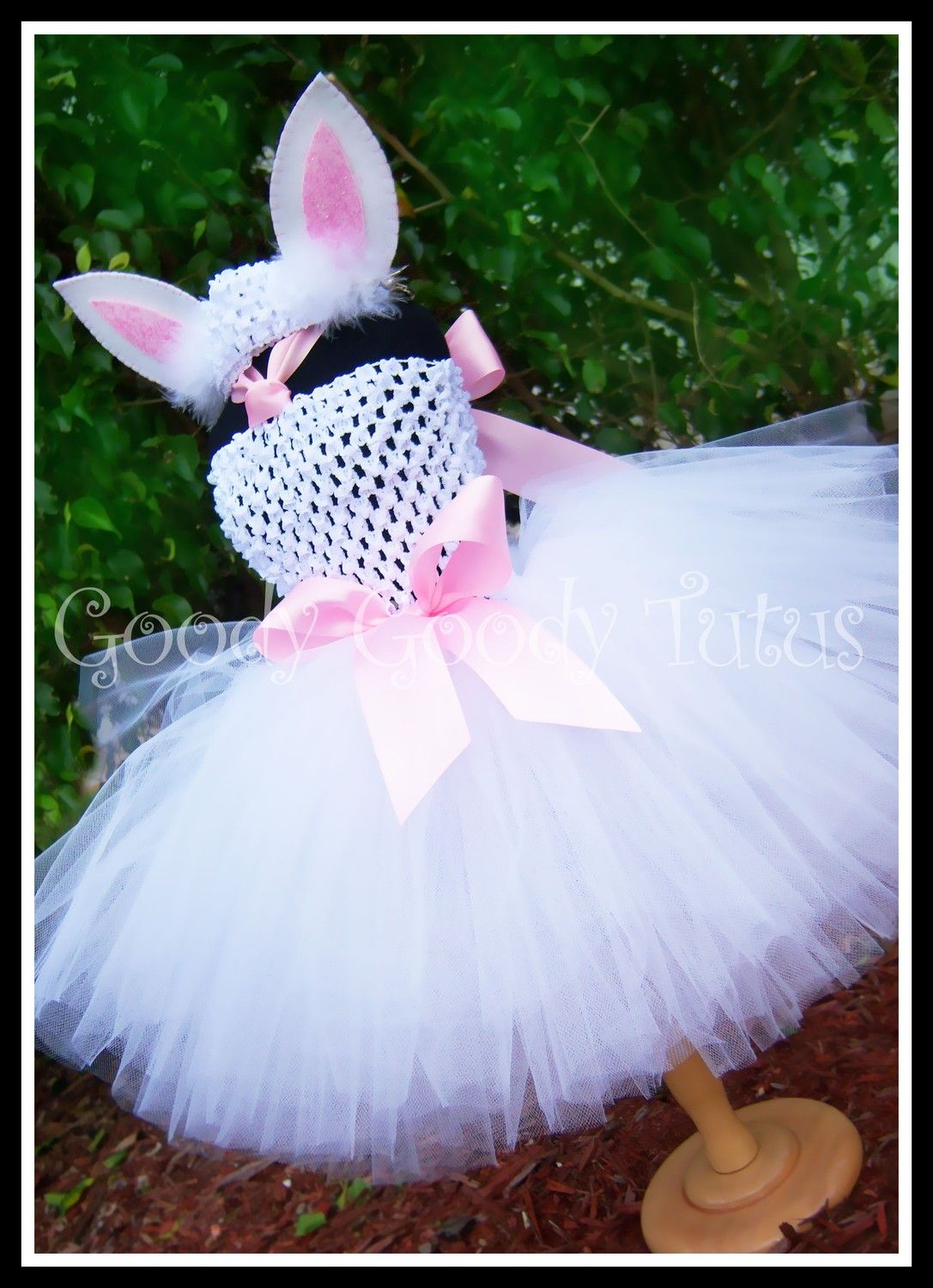 Little Bunny Love White Crocheted Bunny Tutu Dress With