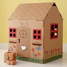 How Land Of Nod Inspired A DIY Cardboard Playhouse | Pinterest | Cardboard  Playhouse, Playhouses And Inspiration