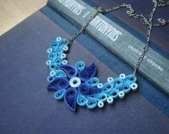 1st Anniversary Gift For Wife Paper Flower Necklace Por Sbirotak