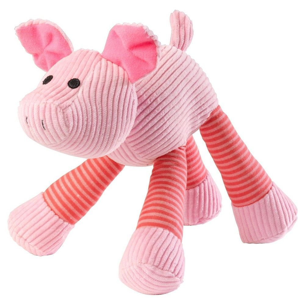 House Of Paws Barnyard Oink Pig Sound Dog Toy Multi Colored