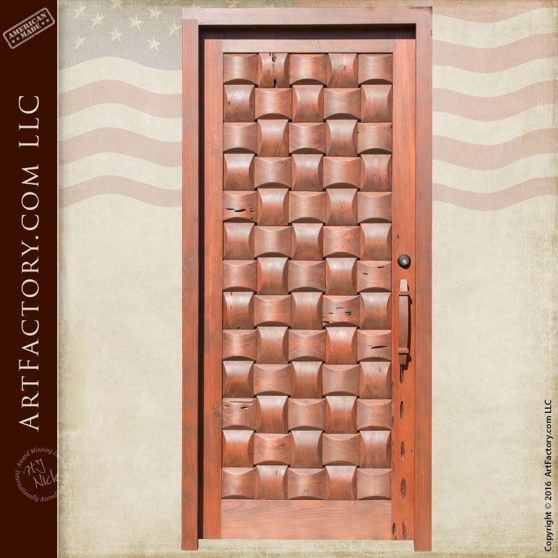 Basket Weave Hand Crafted Door, Solid Wood Exterior - BWD400 | Hand ...