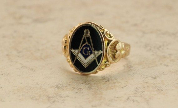 Antique Ring Masonic Ring 10k Yellow Gold Ring Estate Ring Mens Ring Vintage Gold Ring Blue Lodge Ring Maso Masonic Ring Blue Lodge Masonic Rings Antique Rings