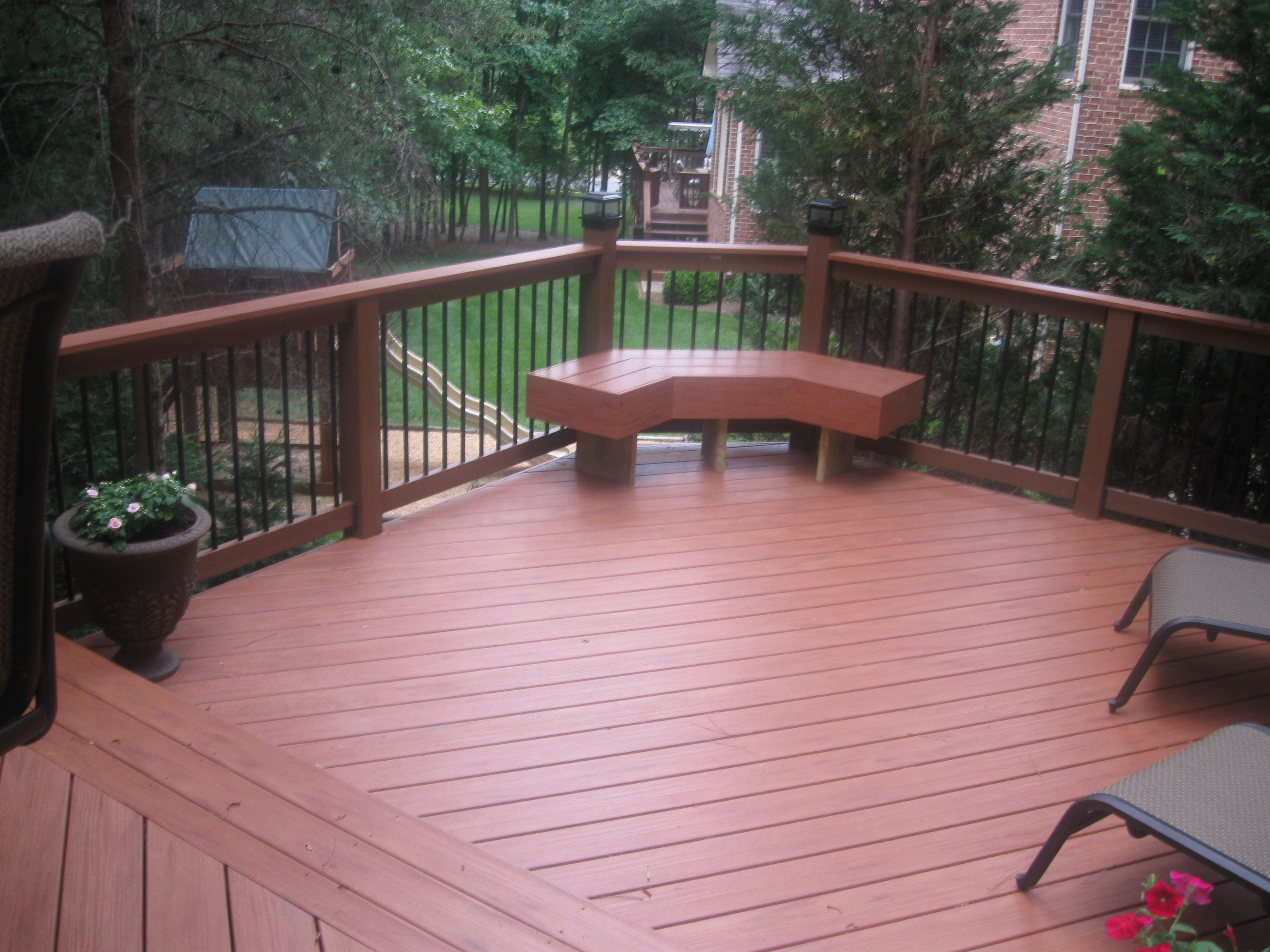 Trex Deck Design Ideas 1000 images about deck on pinterest decking decks and railings Composite Decking Walnut Color For Trendy Patio Home Decor Exterior Homes Pinterest Composite Decking Decking And Patio