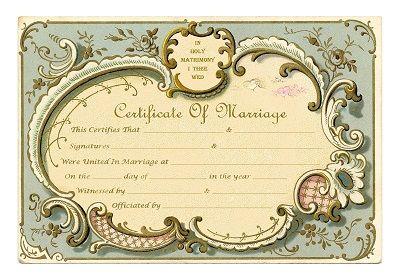 Keepsake Marriage Certificate Vintage French Frame Free Printable