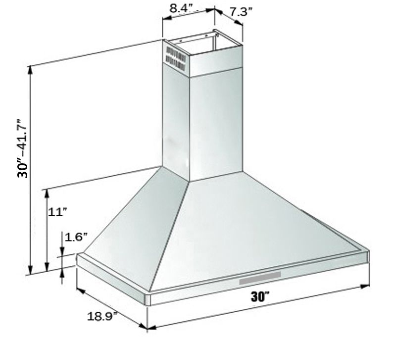 Vent Hood Dimensions Google Search