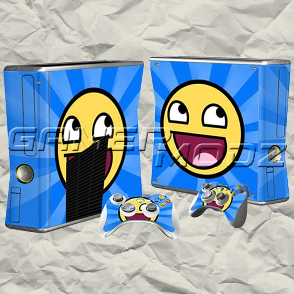 So Happy XBOX 360 Skin Set - Console with 2 Controllers