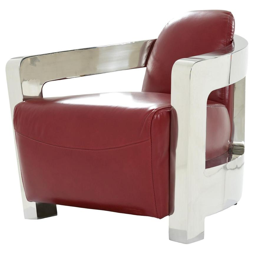 Leather Accent Chair Madison Club Chair Red Bordeaux Wood