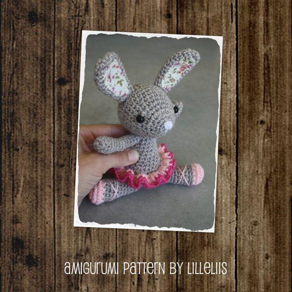 PATRÓN-bailarina conejito - crochet patrón, patrón de amigurumi, pdf ...