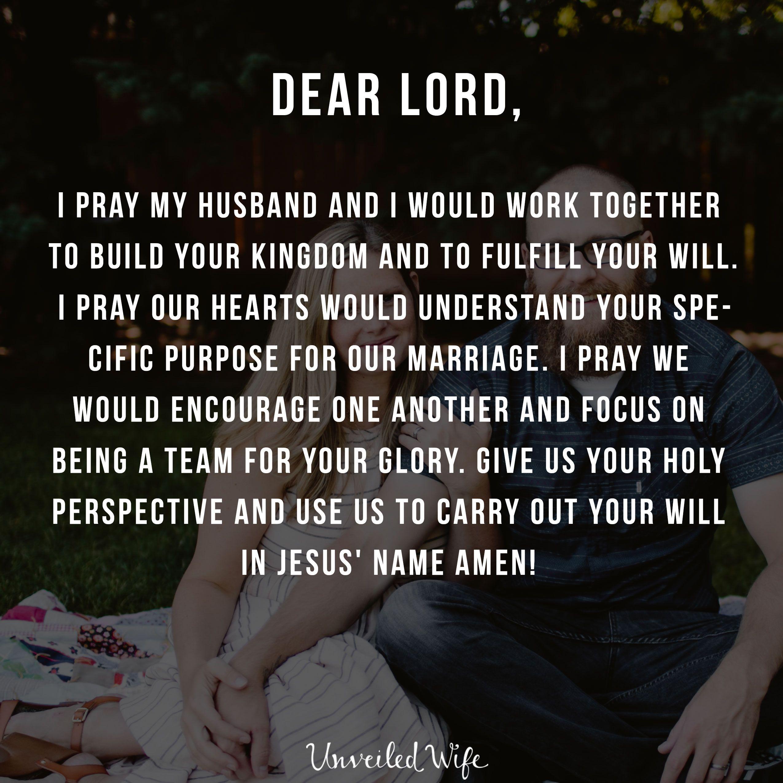 Prayer: Working Together | Marriage Prayers | Prayer quotes, Prayers
