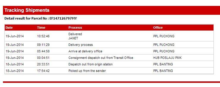 Poslaju Tracking Online Puchong Office Hub Track