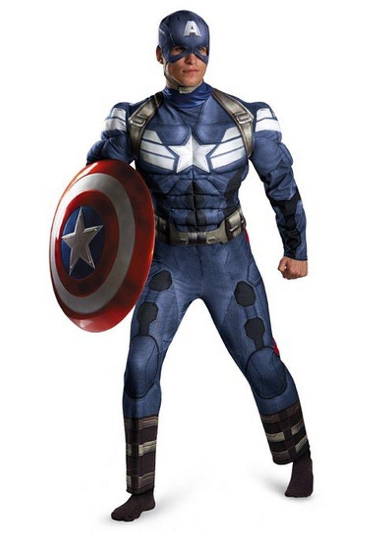 Marvel CAPTAIN AMERICA 2 The Winter Soldier MUSCLE Herren Kostüm ...