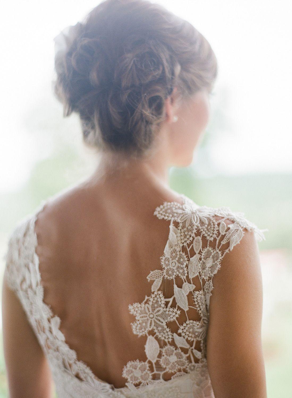 Burlap wedding dress sash  Tennessee Farm Wedding from Brooke Boling  Farming Weddings and