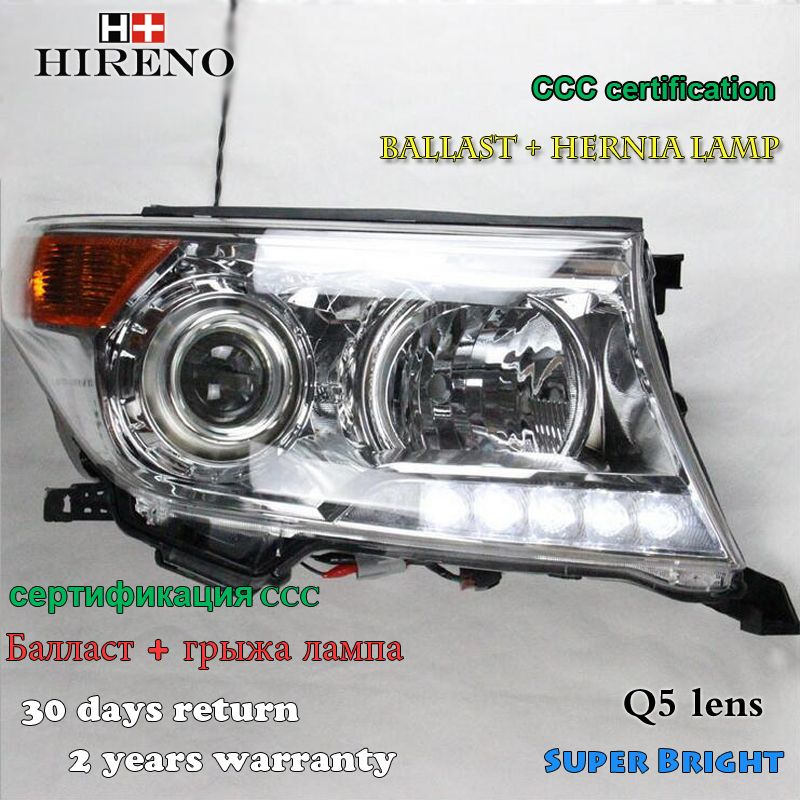 Hireno Headlamp For 2016 Toyota Land Cruiser Lc200 Headlight Assembly Led Drl Angel Lens Double Beam Hid Xenon Hid Xenon Toyota Land Cruiser Headlight Assembly