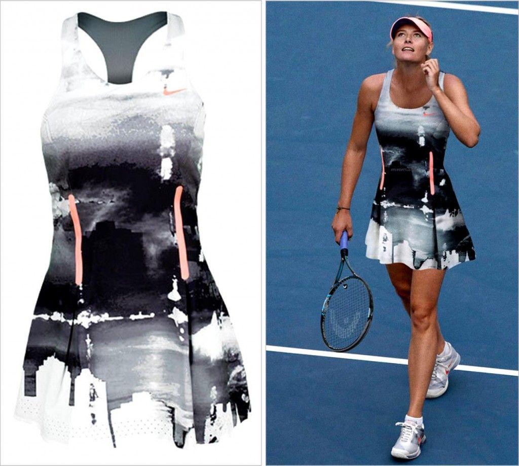 Even though she's not playing, this is a fabulous #tennis dress - #2013 #USOpen Maria #Sharapova #Nike Night Dress via TennisFixation.com