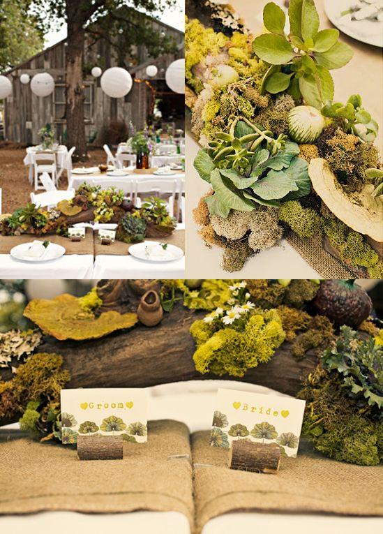 Hochzeit Natur Tischdekoration Hochzeits Inspiration