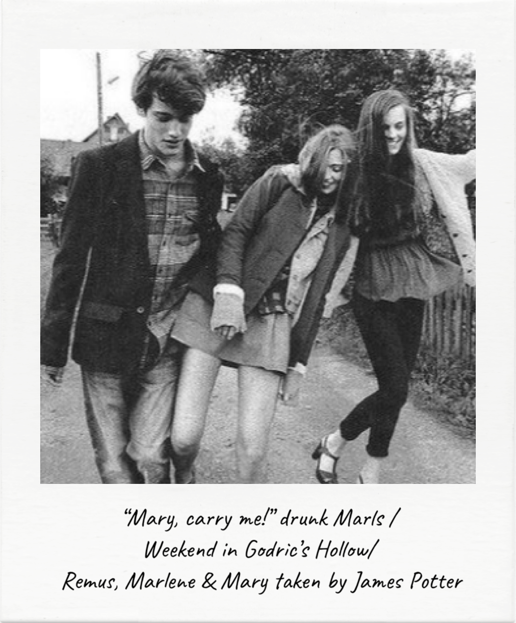 Remus Lupin Marlene Mckinnon Mary Macdonald The Marauders Polaroids Slytherin Harry Potter Harry Potter Marauders Harry Potter Headcannons