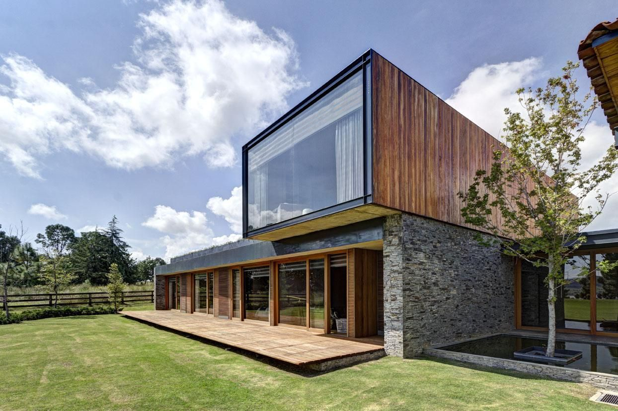 maison contemporaine casa vr mixte bois et pierre par elas rizo arquitectos tapalta au mexique construire tendance