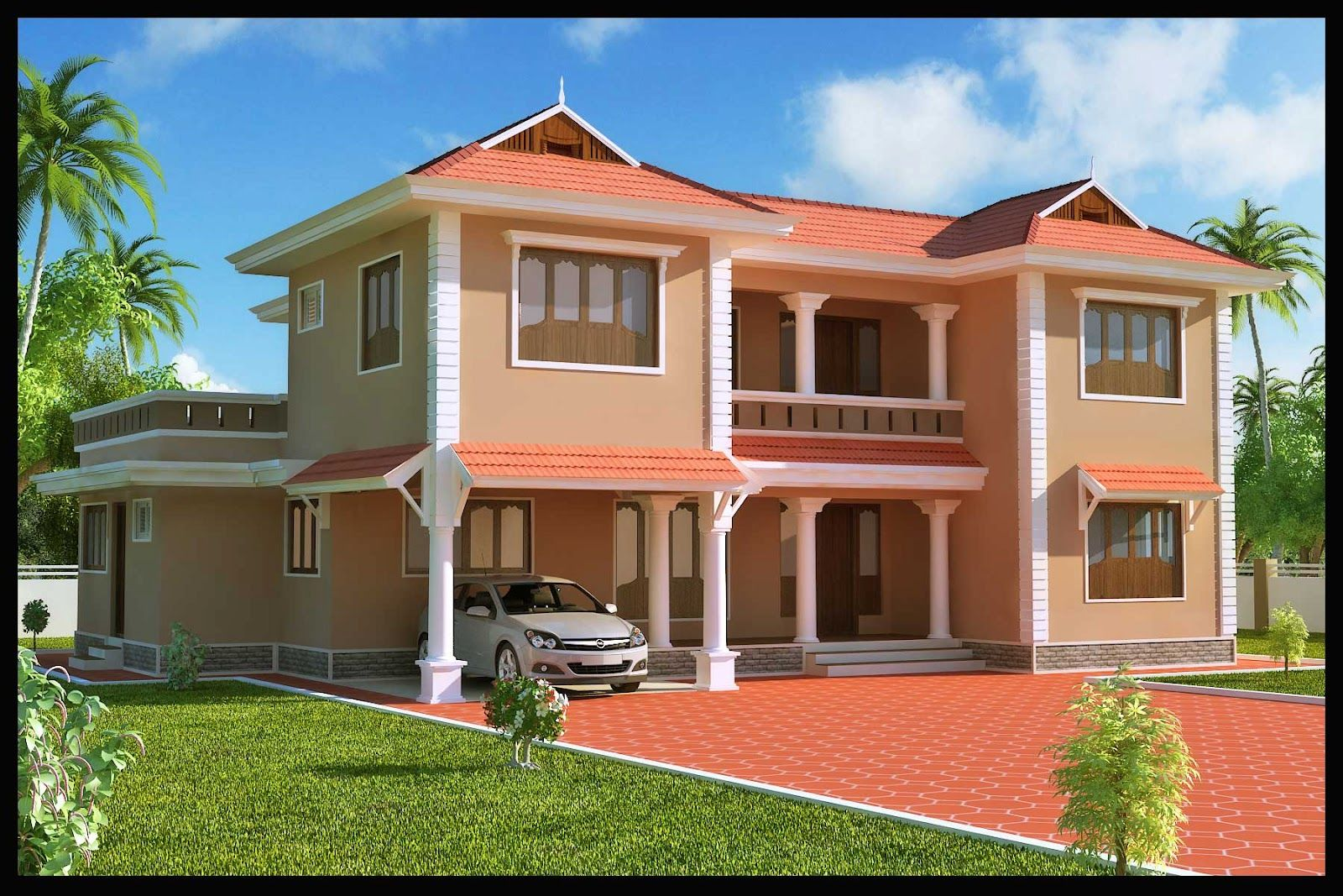 Slide2 adjacent colors architecture exterior captivating for Indian home exterior designs