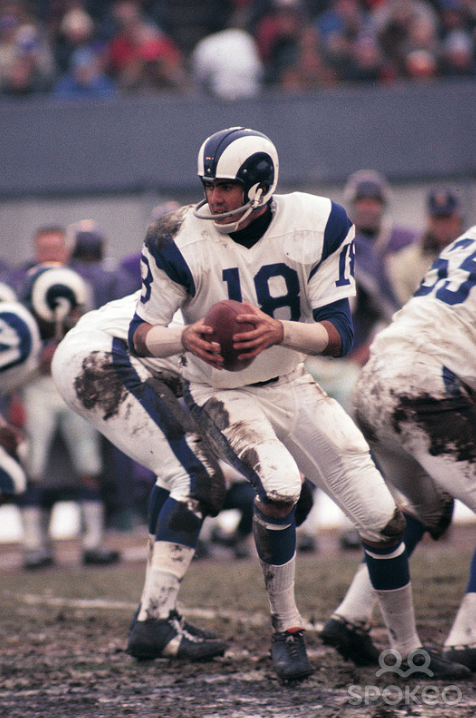 Former Los Angeles Rams Quarterback Roman Gabriel 1970 Gabriel Is Considered To Be One Of The Best Quar American Football Players Rams Football Nfl Uniforms
