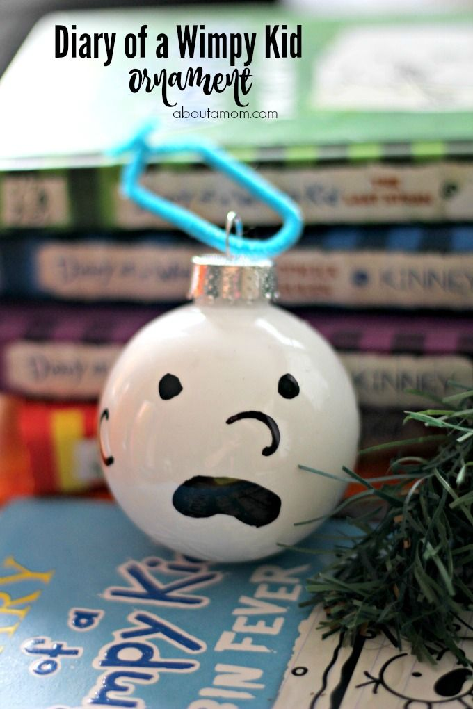 Diary of a Wimpy Kid Ornament, Personalize the tree for your young reader |  Kid Blogger Network Activities & Crafts | Pinterest | Ornaments, Christmas  and ... - Diary Of A Wimpy Kid Ornament, Personalize The Tree For Your Young