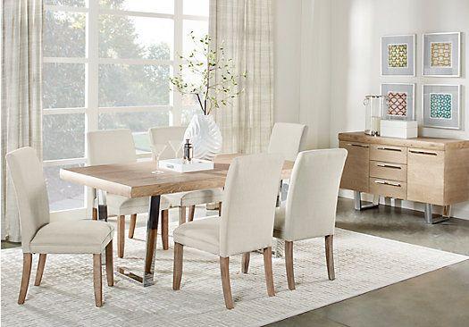 cindy crawford home san francisco ash 5 pc dining room with chalk rh pinterest com