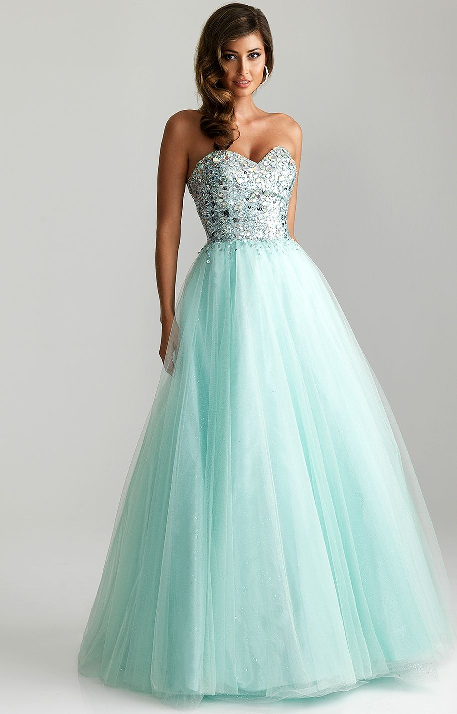 Teal Ballgown Princess Prom Dresses Cute Prom Dresses Prom Dresses Blue [ 1431 x 916 Pixel ]