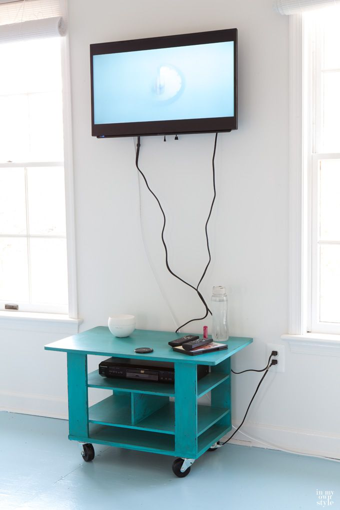 How to Hide Cords on a Wall Mounted TV (In My Own Style) | Mounted ...