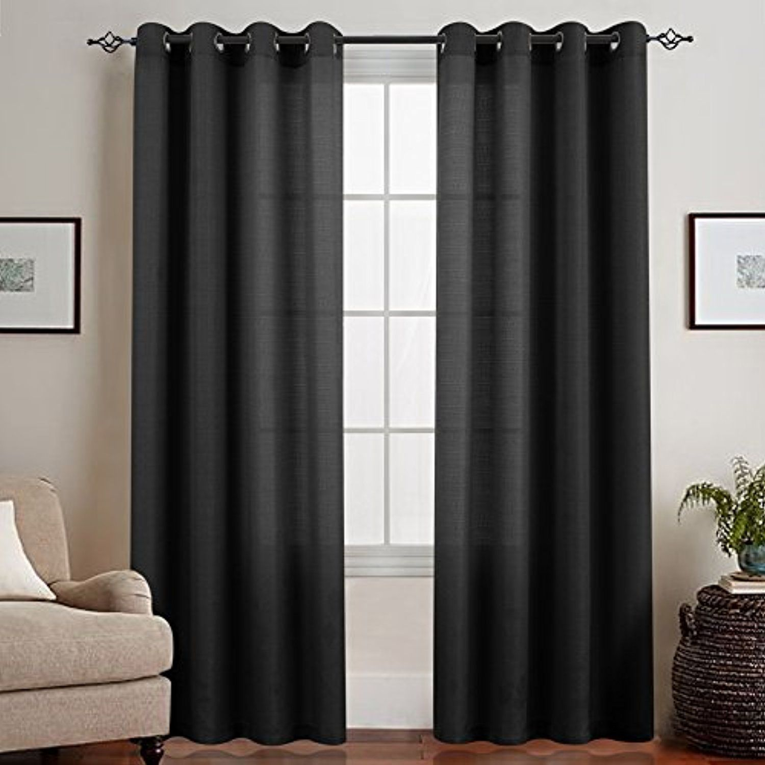 2 window bedroom ideas  semi sheer curtain panels for bedroom privacy casual weave linen