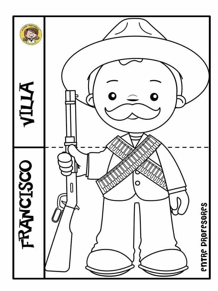 Tarea De Jisto Revolucion Mexicana Para Colorear Revolucion Mexicana Para Ninos Revolucion Mexicana Dibujos