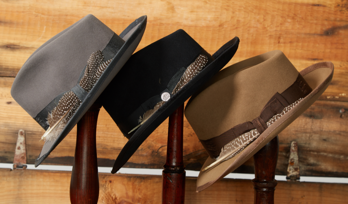 a5480a0735bba The exclusive 1865 Distressed Collection is a twist on Stetson s favorite  styles  Open Road